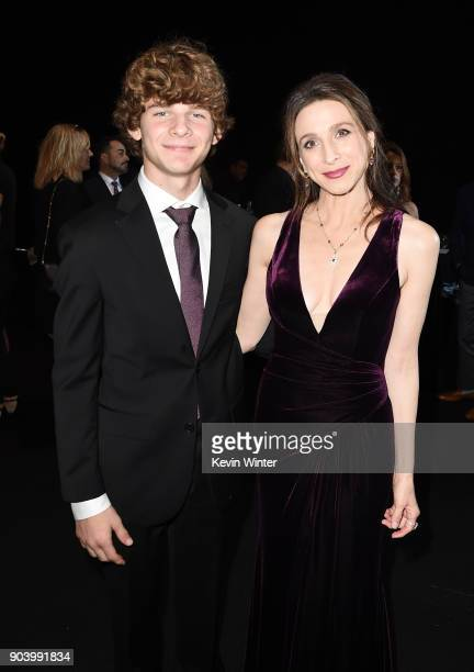 Actor Marin Hinkle and guest attend The 23rd Annual Critics' Choice Awards at Barker Hangar on January 11 2018 in Santa Monica California