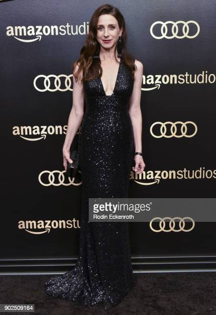 Actor Marin Hinkle arrives at the Amazon Studios Golden Globes Celebration at The Beverly Hilton Hotel on January 7 2018 in Beverly Hills California