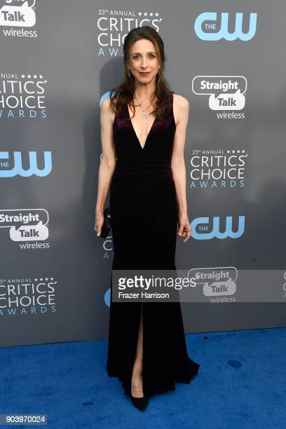 Actor Marin Hinkle attends The 23rd Annual Critics' Choice Awards at Barker Hangar on January 11 2018 in Santa Monica California