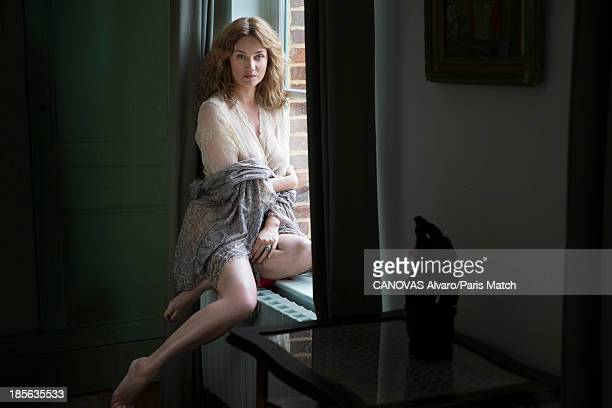 Actor Marine Delterme is photographed for Paris Match on September 9 2013 in St Malo France