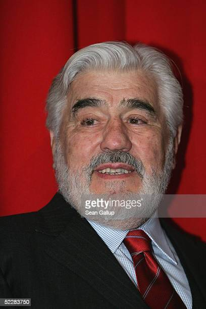 """Actor Mario Adorf attends the German premiere of """"Racing Stripes"""" on March 6, 2005 in Berlin, Germany."""