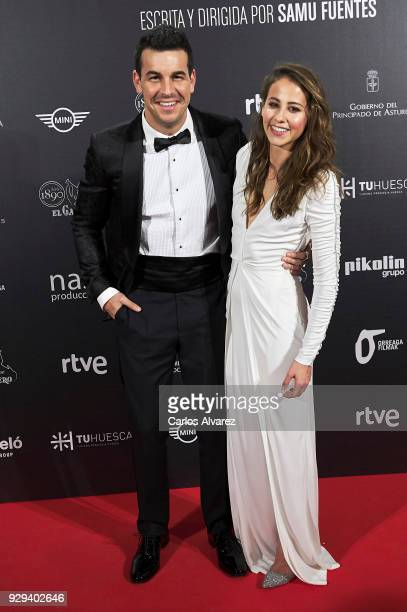Actor Mario Casas and actress Irene Escolar attend 'Bajo La Piel del Lobo' premiere at the Callao cinema on March 8 2018 in Madrid Spain