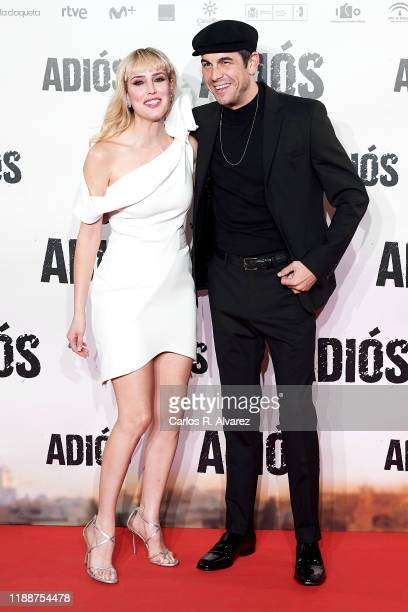 Actor Mario Casas and actress Natalia de Molina attend 'Adios' premiere at Capitol Cinema on November 19 2019 in Madrid Spain