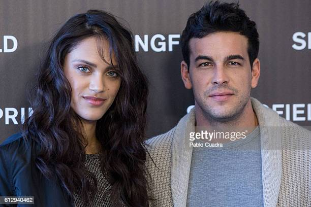 Actor Mario Casas and model Dalianah Arekion present Springfield Christmas Commercial at Club Allard on October 6 2016 in Madrid Spain