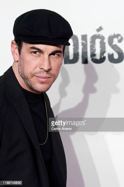 Actor Mario Casas attends 'Adios' premiere at Capitol Cinema on November 19 2019 in Madrid Spain