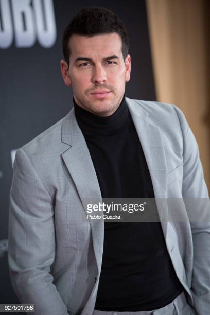 Actor Mario Casas attends 'Bajo La Piel del Lobo' photocall on March 5 2018 in Madrid Spain