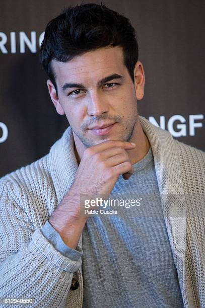 Actor Mario Casas presents Springfield Christmas Commercial at Club Allard on October 6 2016 in Madrid Spain