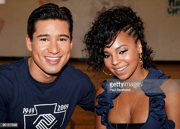 """Actor Mario Lopez and singer Ashanti attend BGCA's """"Million Meal Summer"""" Event on August 28, 2009 in Los Angeles, California."""