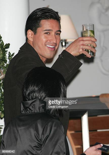 Actor Mario Lopez attends the Armani Exchange Watch Launch at the SLS Hotel on April 15 2009 in Los Angeles California