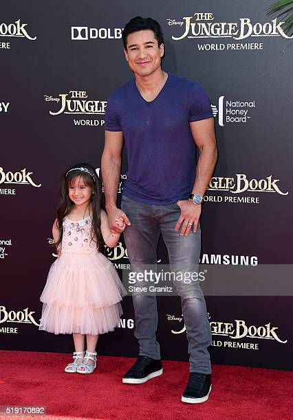 Actor Mario Lopez attends the premiere of Disney's 'The Jungle Book' at the El Capitan Theatre on April 4 2016 in Hollywood California