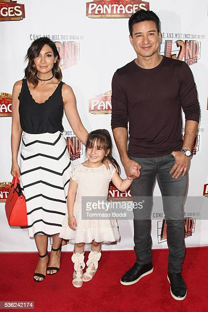 Actor Mario Lopez Gia Francesca Lopez and Courtney Mazza attend the opening of 42nd Street at the Pantages Theatre on May 31 2016 in Hollywood...