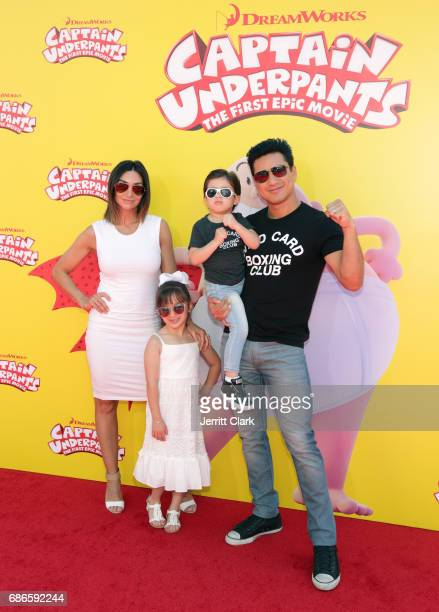 Actor Mario Lopez , his wife Courtney Mazza and their children Gia Francesca Lopez and Dominic Lopez attend the Premiere Of 20th Century Fox's...