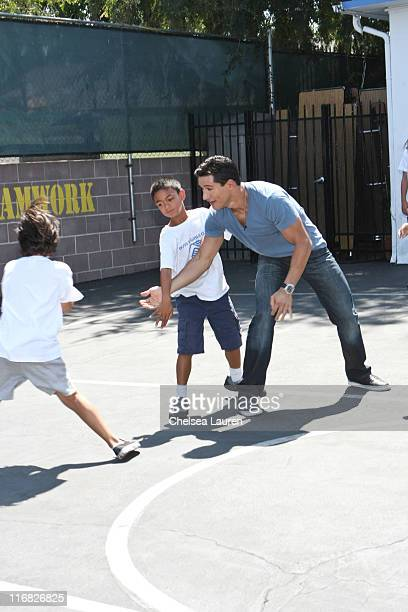 Actor Mario Lopez kicksoff Ford Fiesta Movement's Social Activism Month at Boys Girls Club of America on July 30 2009 in Burbank California