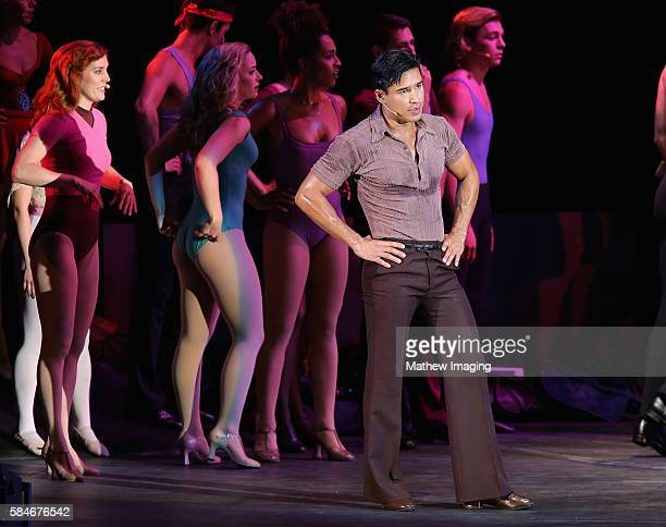 Actor Mario Lopez performs onstage during A Chorus Line at the Hollywood Bowl on July 29 2016 in Hollywood California