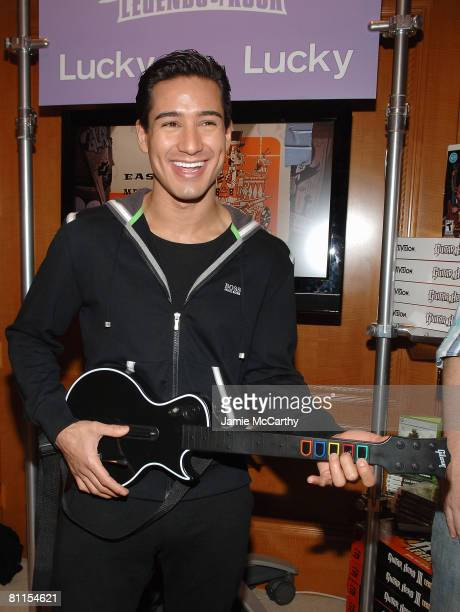 Actor Mario Lopez poses at Guitar Hero III during the Fifth Annual LUCKY CLUB on May 12 2008 in New York City