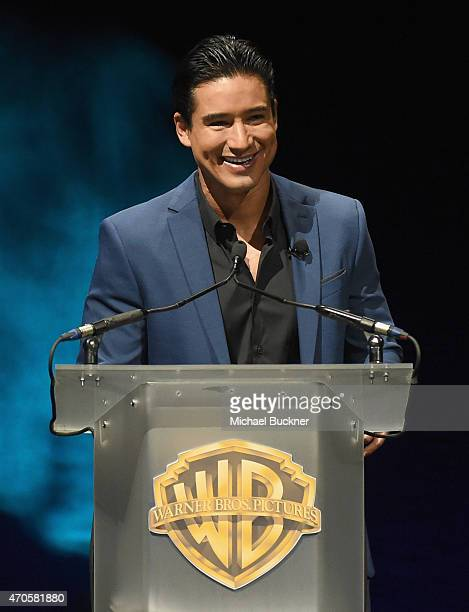 "Actor Mario Lopez speaks onstage at Warner Bros Pictures Invites You to ""The Big Picture"" an Exclusive Presentation Highlighting the Summer of 2015..."