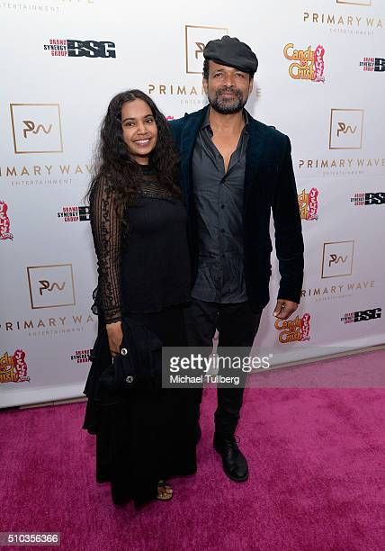 Actor Mario Van Peebles and Chitra Sukhu attend the Primary Wave 10th Annual preGRAMMY Party at The London West Hollywood on February 14 2016 in West...