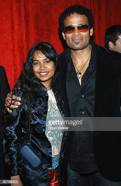 Actor Mario Van Peebles and his wife Chitra arrive to the benefit gala for the Melvin Van Peebles Foundation of BAADASSSSS May 3 2004 in New York City