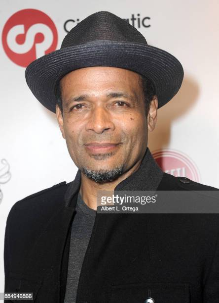 Actor Mario Van Peebles arrives for the TJ Scott book launch for In The Tub Volume 2 held at Cinematic Pictures Group Gallery on December 2 2017 in...