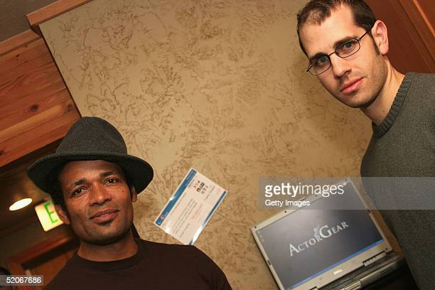 Actor Mario Van Peebles visits the ActorGearcom display at the Gibson Gift Lounge during the 2005 Sundance Film Festival on January 24 2005 in Park...