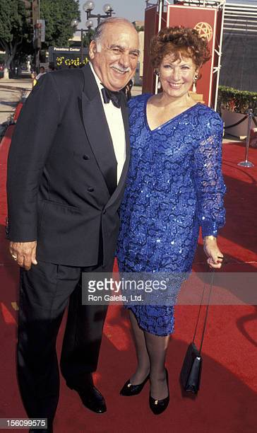 Actor Marion Ross and Paul Michael attending 45th Annual Primetime Emmy PreTechnical Awards on September 18 1993 at the Pasadena Civic Auditorium in...