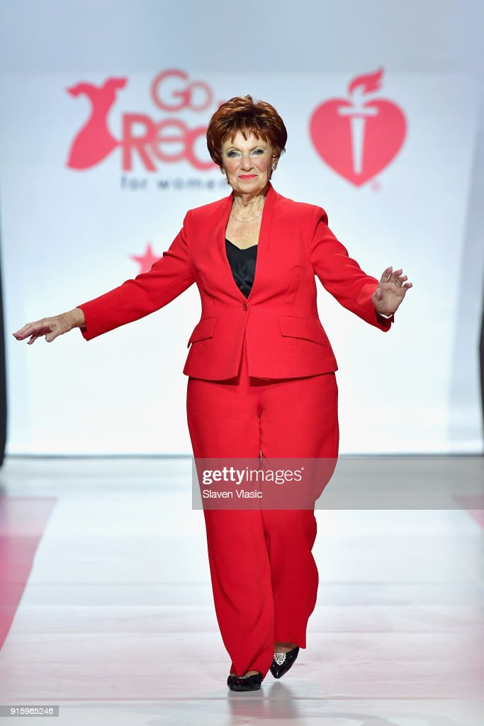 Actor Marion Ross on stage at the American Heart Association's Go Red For Women Red Dress Collection 2018 presented by Macy's at Hammerstein Ballroom on February 8, 2018 in New York City.