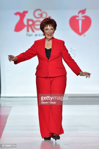 Actor Marion Ross on stage at the American Heart Association's Go Red For Women Red Dress Collection 2018 presented by Macy's at Hammerstein Ballroom...