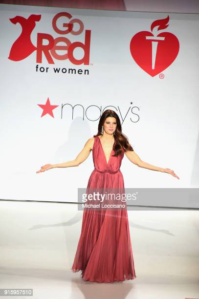 Actor Marisa Tomei appears onstage the runway during the American Heart Association's Go Red For Women Red Dress Collection 2018 presented by Macy's...