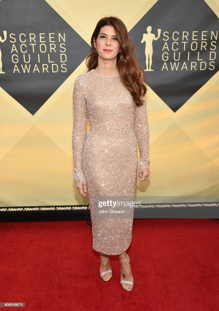 Actor Marisa Tomei attends the 24th Annual Screen Actors Guild Awards at The Shrine Auditorium on January 21, 2018 in Los Angeles, California.