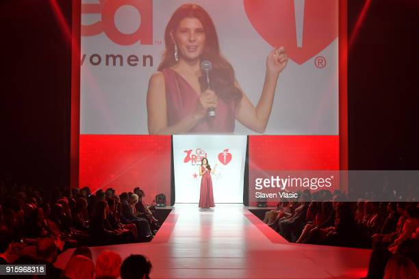 Actor Marisa Tomei walks the runway during the American Heart Association's Go Red For Women Red Dress Collection 2018 presented by Macy's at...