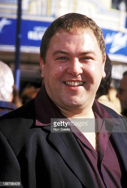 Actor Mark Addy attends the premiere of Jack Frost on December 5 1998 at Mann Village Theater in Westwood California