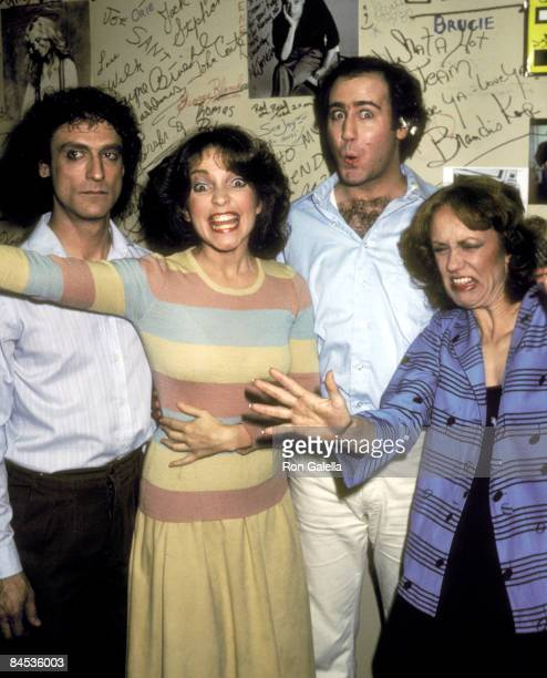 Actor Mark Blankfield actress Melanie Chartoff actor Andy Kaufman and actress Brandis Kemp attend the Taping of the Late Night Sketch Show Fridays on...
