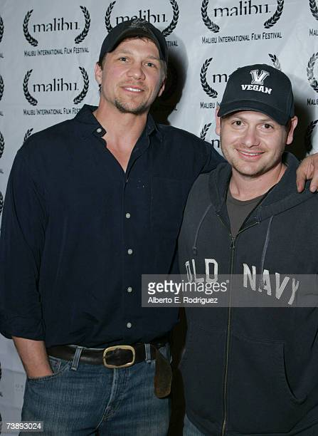 Actor Mark Blucas and filmaker Gideon Raff attend the opening night of the Malibu Film Festival on April 13 2007 in Los Angeles California