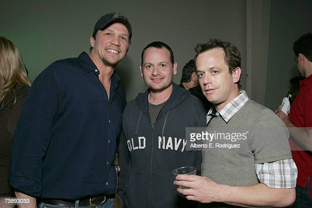 Actor Mark Blucas filmaker Gideon Raff and festival director David Katz attend the opening night of the Malibu Film Festival on April 13 2007 in Los...
