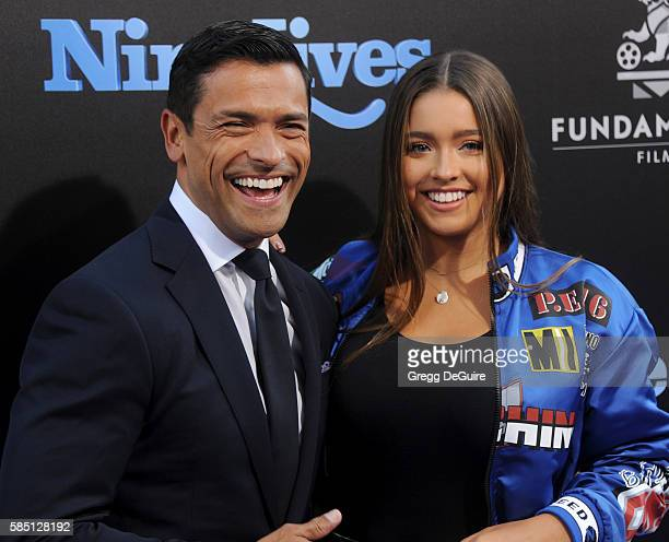 Actor Mark Consuelos and daughter Lola Grace Consuelos arrive at the premiere of EuropaCorp's Nine Lives at TCL Chinese Theatre on August 1 2016 in...