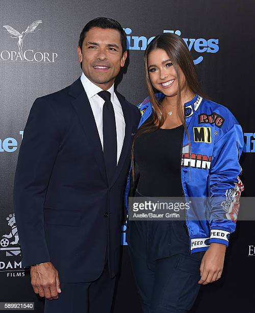 Actor Mark Consuelos and daughter Lola Grace Consuelos arrive at the premiere of EuropaCorp's 'Nine Lives' at TCL Chinese Theatre on August 1 2016 in...