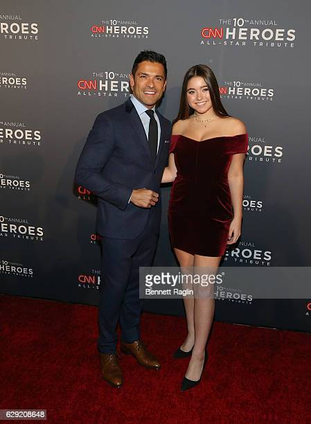 Actor Mark Consuelos and daugther Lola Grace Consuelos attends the10th Anniversary CNN Heroes at American Museum of Natural History on December 11...