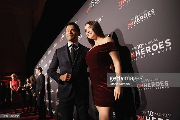 Actor Mark Consuelos and Lola Grace Consuelos attend CNN Heroes Gala 2016 at the American Museum of Natural History on December 11 2016 in New York...