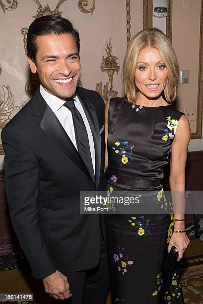 Actor Mark Consuelos and Television Personality Kelly Ripa attend the Broadcasting and Cable 23rd Annual Hall of Fame Awards Dinner at The Waldorf...