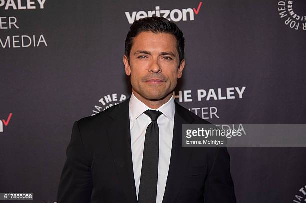 Actor Mark Consuelos arrives at The Paley Center for Media's Hollywood Tribute to Hispanic Achievements in Television event at the Beverly Wilshire...