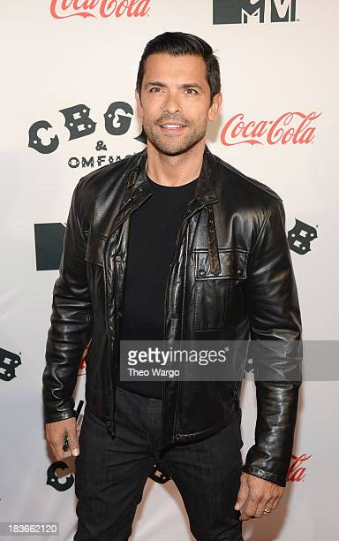 Actor Mark Consuelos attends the Premiere of CBGB The Movie during the CBGB Music Film Festival 2013 at Landmark Sunshine Cinema on October 8 2013 in...