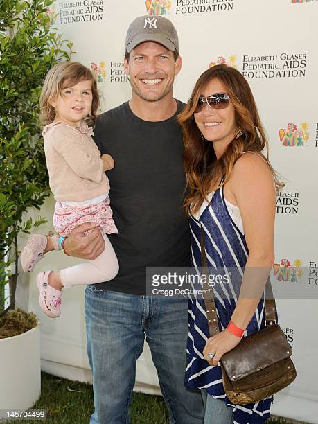 Actor Mark Deklin and family arrive at Elizabeth Glaser Pediatric AIDS Foundation's 23rd Annual A Time For Heroes Celebrity Picnic at Wadsworth...