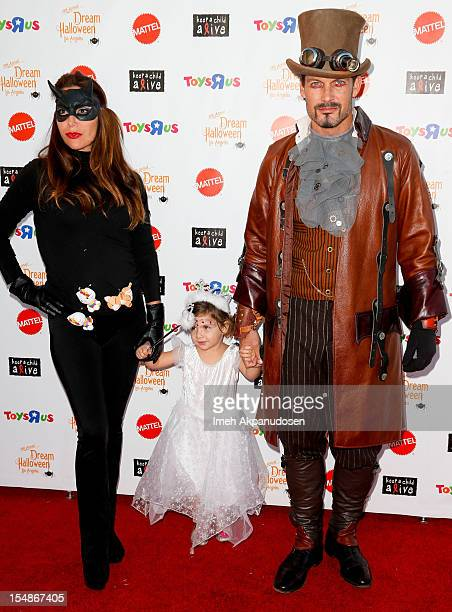 Actor Mark Deklin and his family attend the 2012 'Dream Halloween' presented by Keep A Child Alive at Barker Hangar on October 27 2012 in Santa...