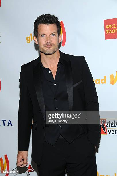 Actor Mark Deklin arrives at the 23rd Annual GLAAD Media Awards at Westin Bonaventure Hotel on April 21, 2012 in Los Angeles, California.