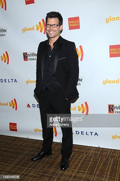 Actor Mark Deklin arrives at the 23rd Annual GLAAD Media Awards at Westin Bonaventure Hotel on April 21 2012 in Los Angeles California