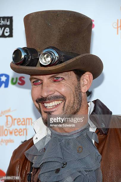 Actor Mark Deklin arrives at the Keep A Child Alive 2012 Dream Halloween Party at Barker Hangar on October 27, 2012 in Santa Monica, California.