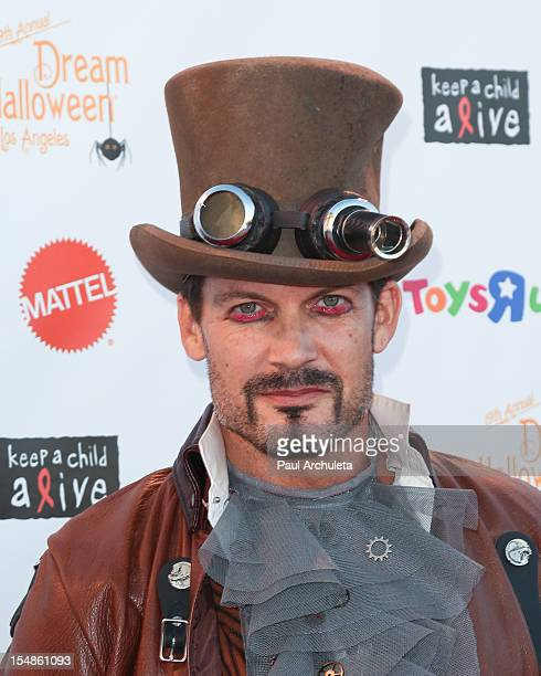 Actor Mark Deklin attends the Keep A Child Alive 2012 Dream Halloween Los Angeles charity event at Barker Hangar on October 27 2012 in Santa Monica...