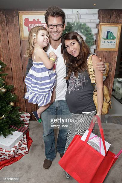 Actor Mark Deklin wife Jamie Deklin and daughter Kylie Deklin attend the 2nd Annual Santa's Secret Workshop Benefiting LA Family Housing at Andaz on...