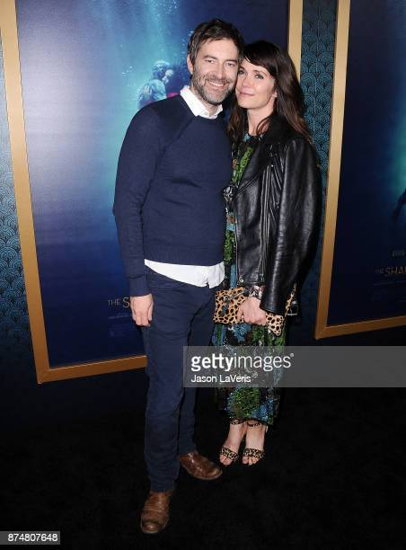Actor Mark Duplass and actress Katie Aselton attend the premiere of 'The Shape of Water' at the Academy of Motion Picture Arts and Sciences on...