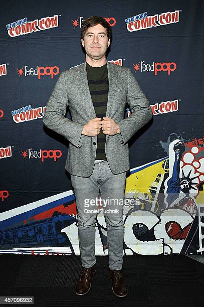Actor Mark Duplass attends The League press room at 2014 New York Comic Con Day 3 at Jacob Javitz Center on October 11 2014 in New York City